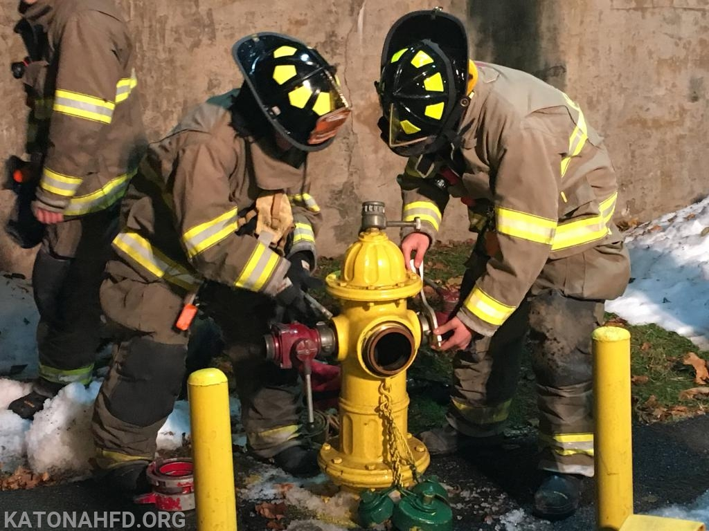 Now it's their turn to dress the hydrant.
