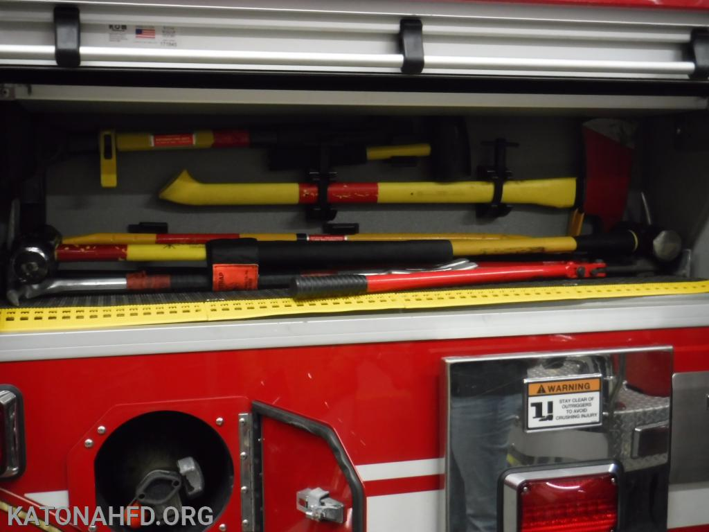 Axes, sledges, bolt cutters and other tools help firefighters carry out tasks such as forcible entry.