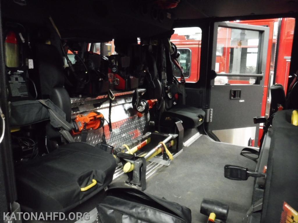 Ladder 39's crew cab.