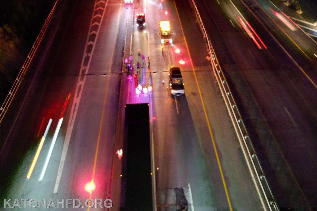 Drone footage by KFD Firefighter Will Kaiser.